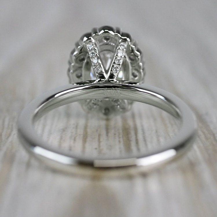 1 Carat Customized Vintage Halo Oval Diamond Ring angle 4