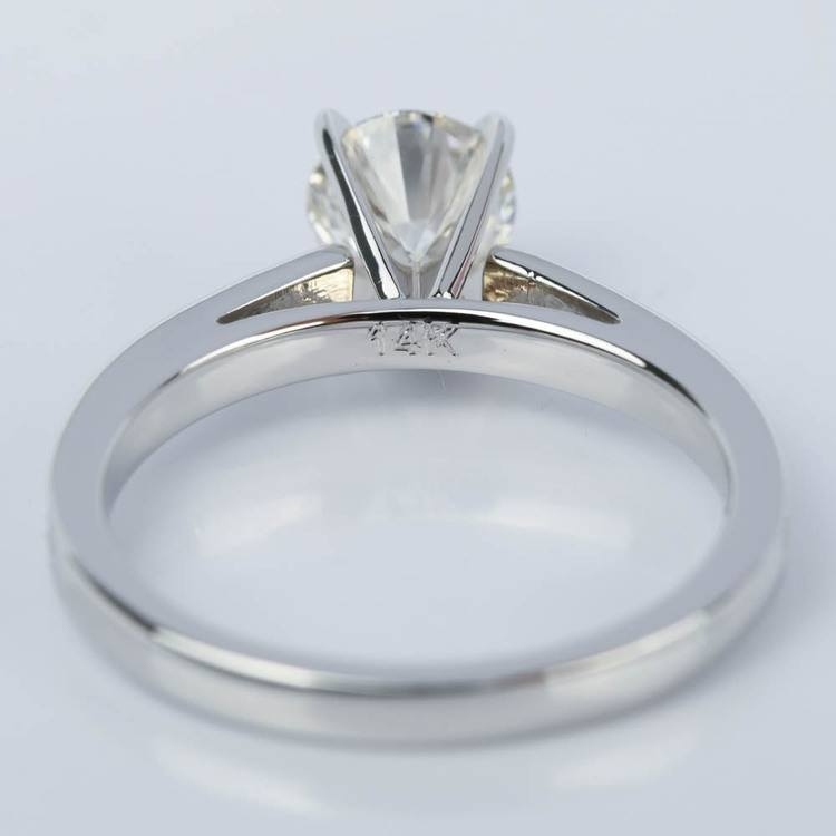 1 Carat Diamond Cathedral Engagement Ring in White Gold angle 4