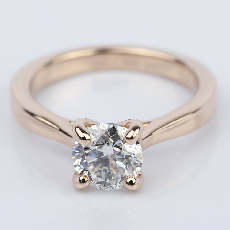 1 Carat Diamond Engagement Ring in 18K Rose Gold