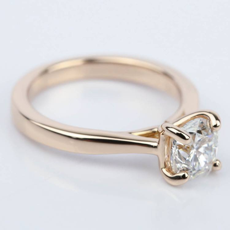 1 Carat Diamond Engagement Ring in 18K Rose Gold angle 3