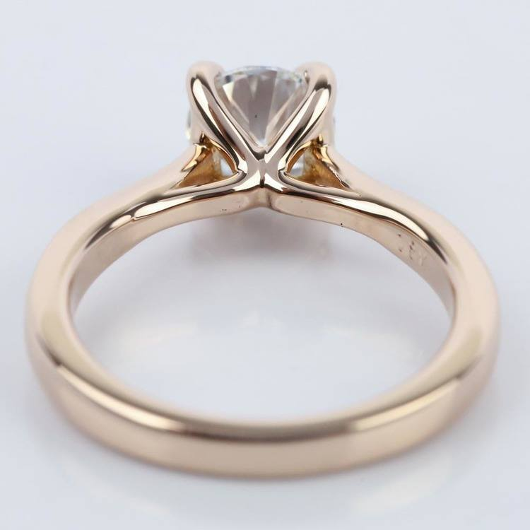 1 Carat Diamond Engagement Ring in 18K Rose Gold angle 4