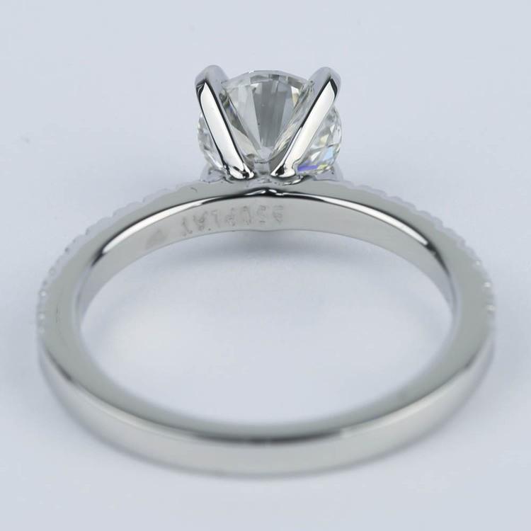 1 Carat Diamond Ring with Platinum Pave Setting angle 4