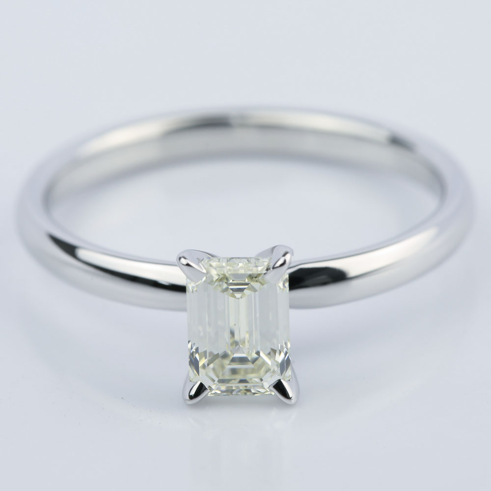 1 carat emerald cut diamond engagement ring. Black Bedroom Furniture Sets. Home Design Ideas