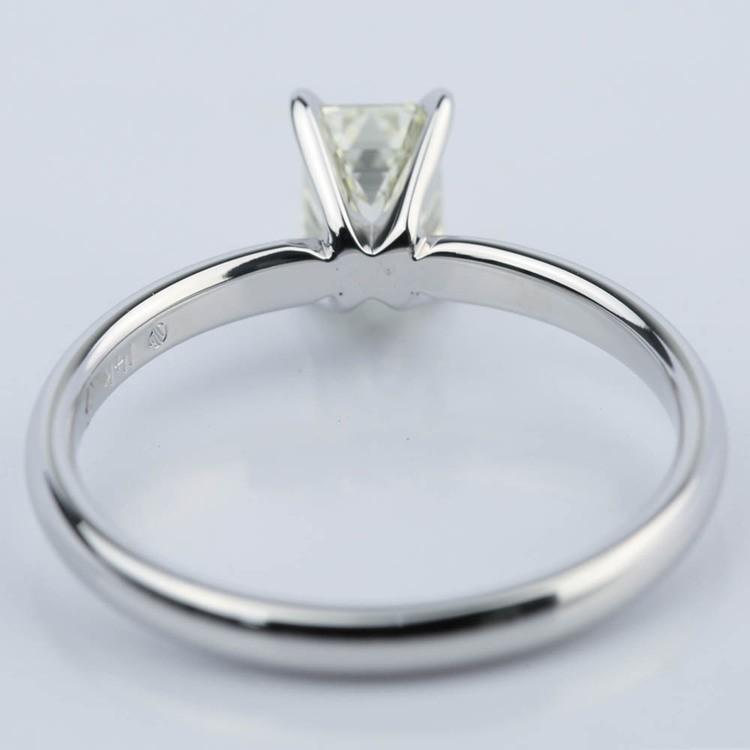 1 Carat Emerald Cut Diamond Engagement Ring angle 4