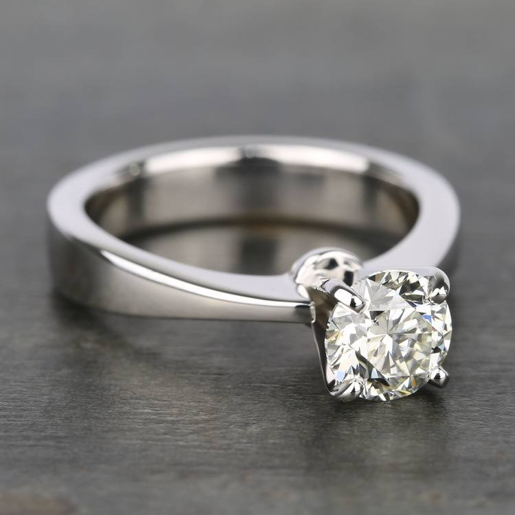 1 Carat IGI Certified Diamond Solitaire Engagement Ring angle 3