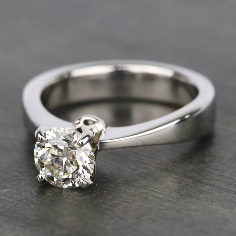1 Carat IGI Certified Diamond Solitaire Engagement Ring angle 2