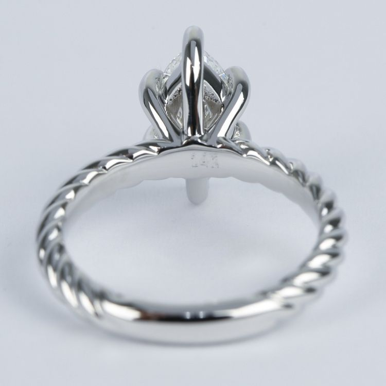 1 Carat Marquise Twisted Rope Diamond Engagement Ring angle 4