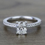 1 Carat Oval Scallop Diamond Engagement Ring - small