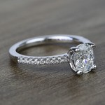 1 Carat Oval Scallop Diamond Engagement Ring - small angle 3