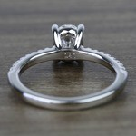 1 Carat Oval Scallop Diamond Engagement Ring - small angle 4
