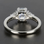 Custom Oval & Trillion Cut Diamond Engagement Ring (1 Carat) - small angle 4