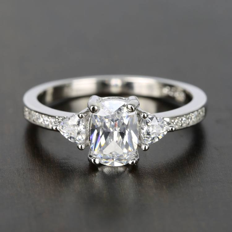 Custom Oval & Trillion Cut Diamond Engagement Ring (1 Carat)