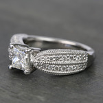 1 Carat Princess Diamond Custom Engagement Ring - small angle 2