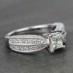 1 Carat Princess Diamond Custom Engagement Ring - small angle 3