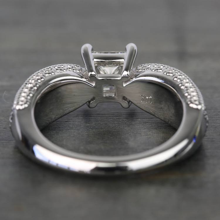 1 Carat Princess Diamond Custom Engagement Ring angle 4
