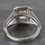 1 Carat Radiant Custom Split-Shank Double Halo Diamond Ring - small angle 4