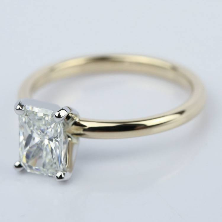 1 Carat Radiant Engagement Ring in Yellow Gold angle 2
