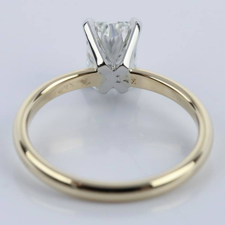 1 Carat Radiant Engagement Ring in Yellow Gold angle 4