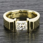 1 Carat Radiant Diamond Tension Solitaire Ring - small