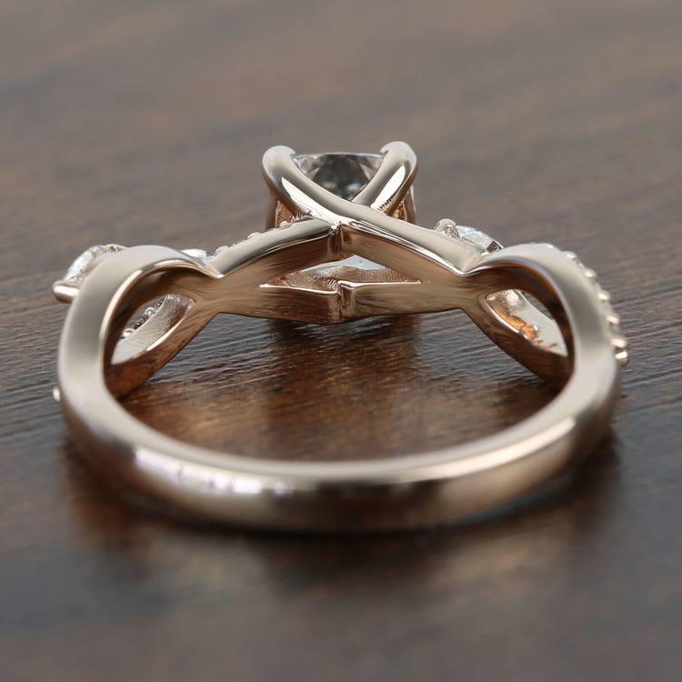 1 Carat Rose Gold Ivy Cushion Diamond Engagement Ring angle 4