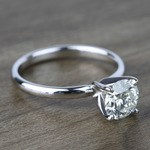 1 Carat Round Classic Solitaire Diamond Ring - small angle 3