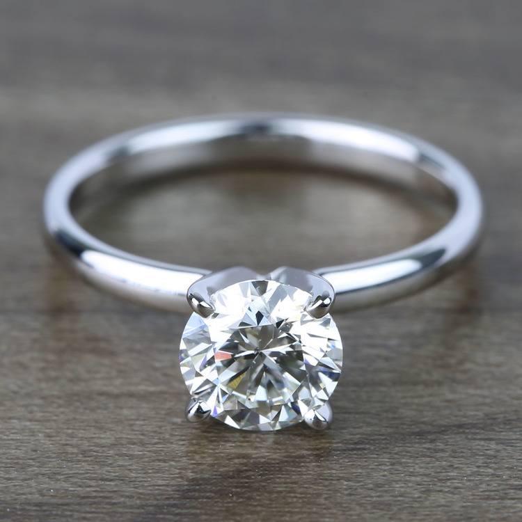 1 Carat Round Classic Solitaire Diamond Ring