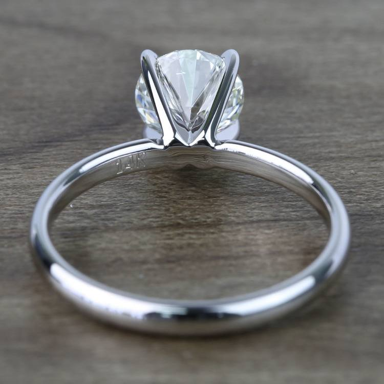 1 Carat Round Classic Solitaire Diamond Ring angle 4