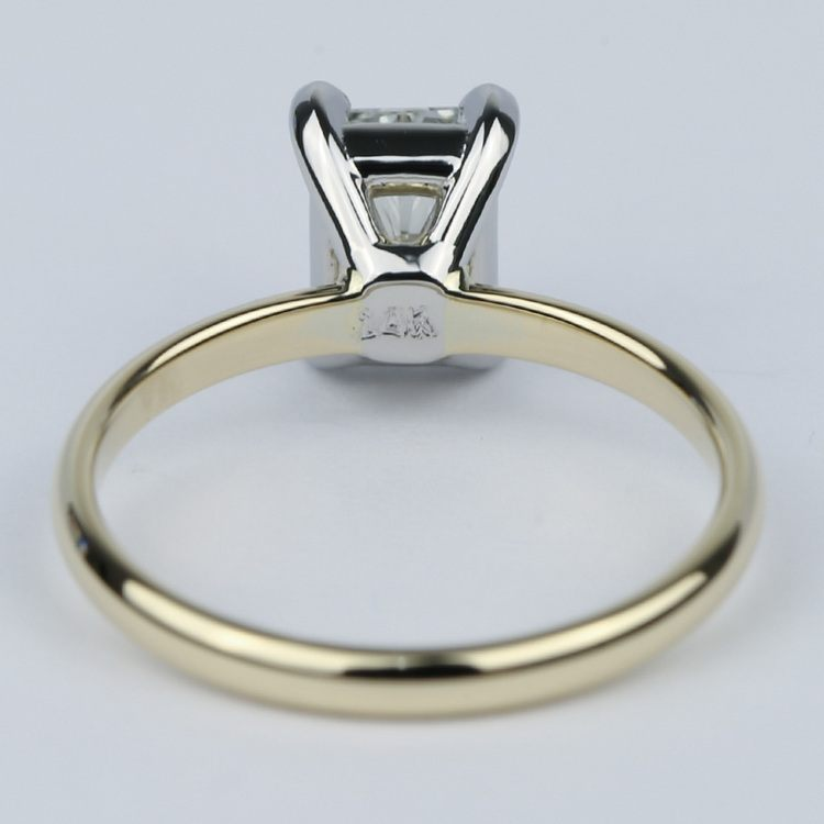 1 Carat Radiant Diamond Engagement Ring in Yellow Gold angle 4