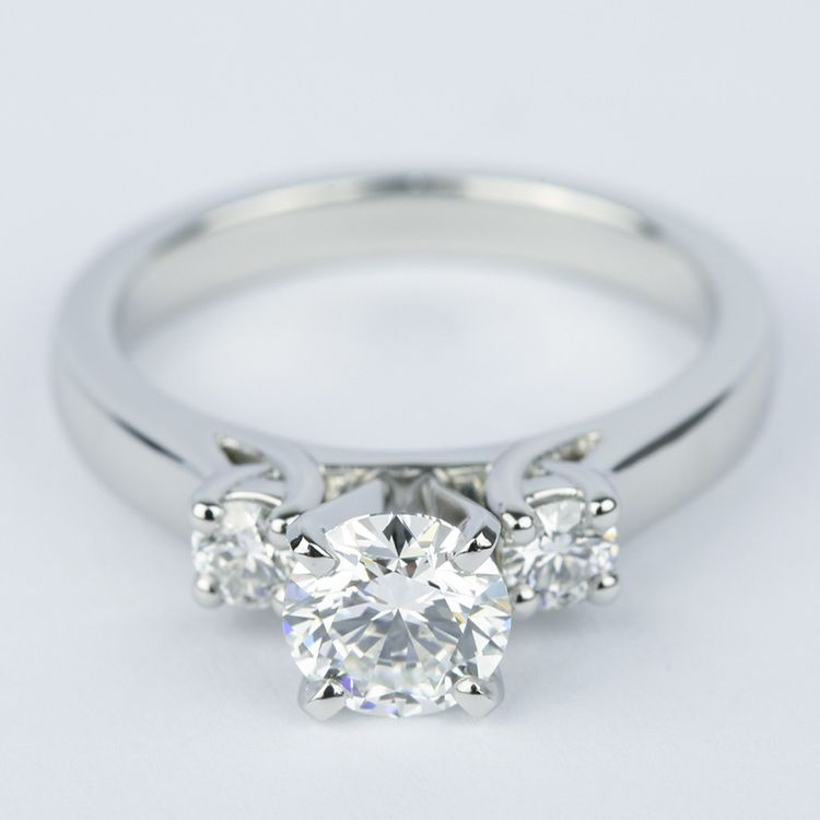 1 Carat Flawless Round Diamond Engagement Ring