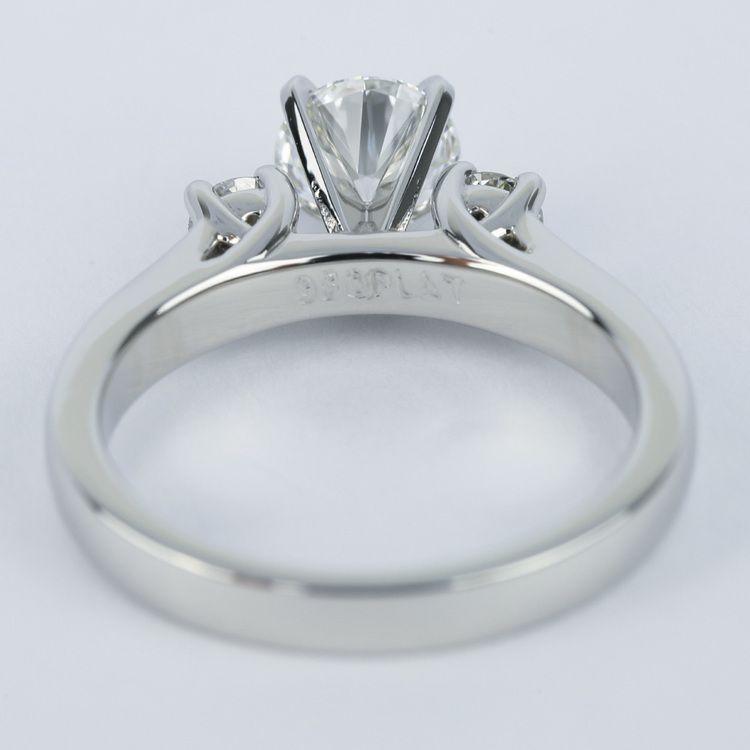 1 Carat Flawless Round Diamond Engagement Ring angle 4
