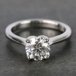 1 Carat Round Lyria Crown Cathedral Solitaire Diamond Engagement Ring - small