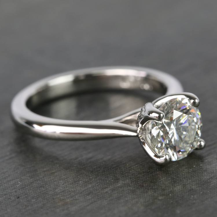 1 Carat Round Lyria Crown Cathedral Solitaire Diamond Engagement Ring angle 3