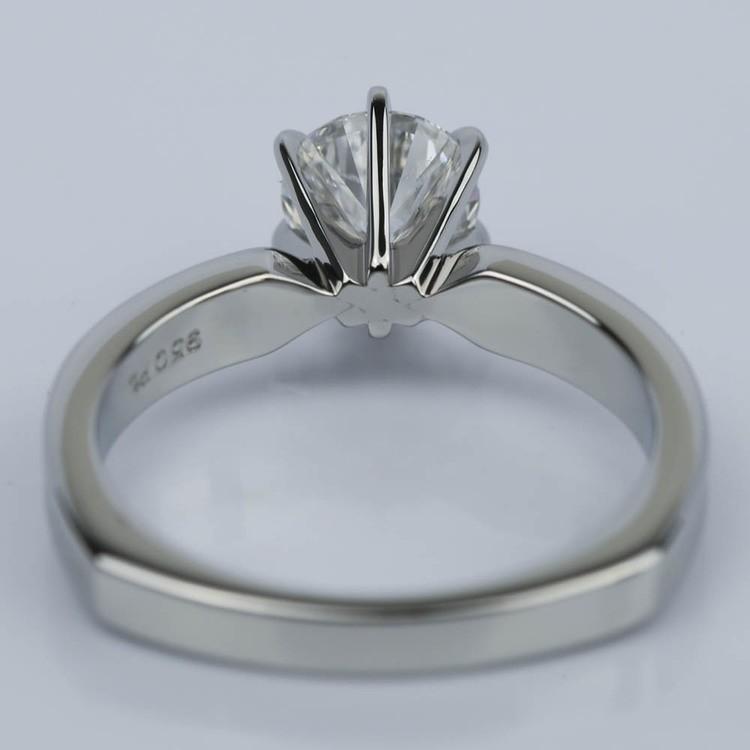 1.00 Carat Round Rocker Milgrain Solitaire Engagement Ring in Platinum angle 4