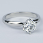 1 Carat Round Diamond Six-Prong Solitaire Engagement Ring - small angle 3