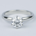 1 Carat Round Diamond Six-Prong Solitaire Engagement Ring - small
