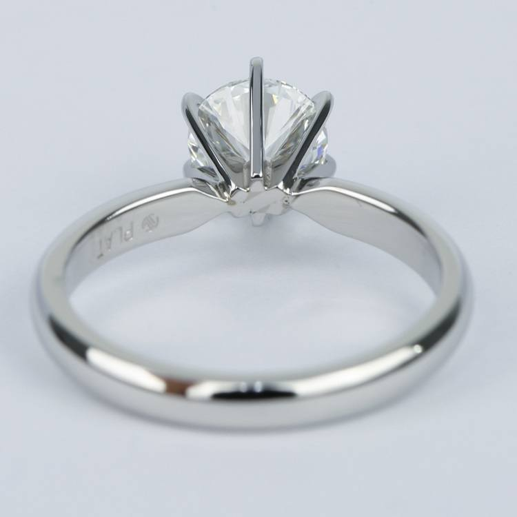 1 Carat Round Diamond Six-Prong Solitaire Engagement Ring angle 4