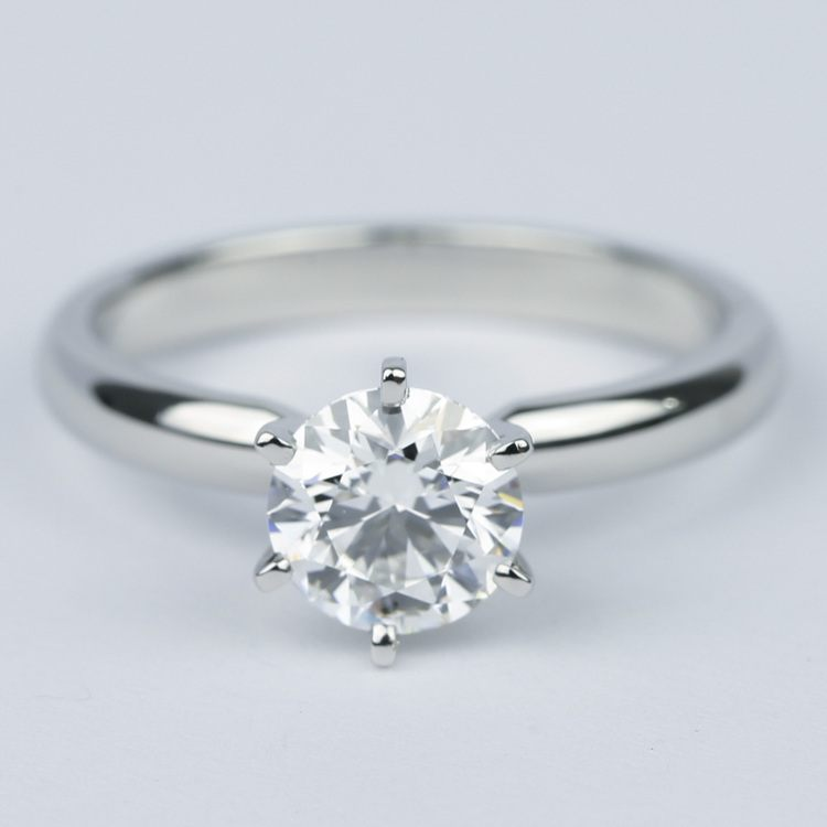 1 Carat Round Diamond Six-Prong Solitaire Engagement Ring