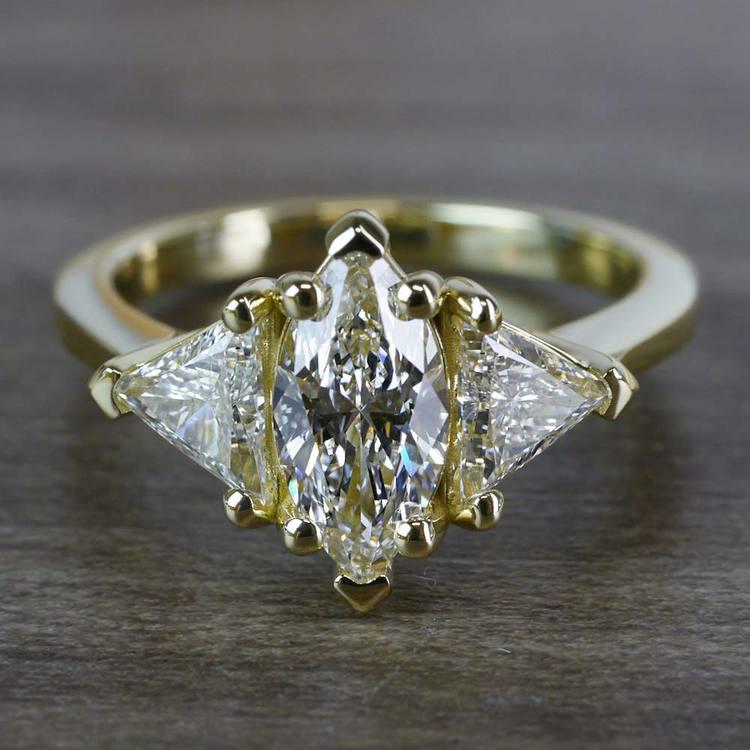 1 Carat Triple Engagement Marquise Diamond Ring