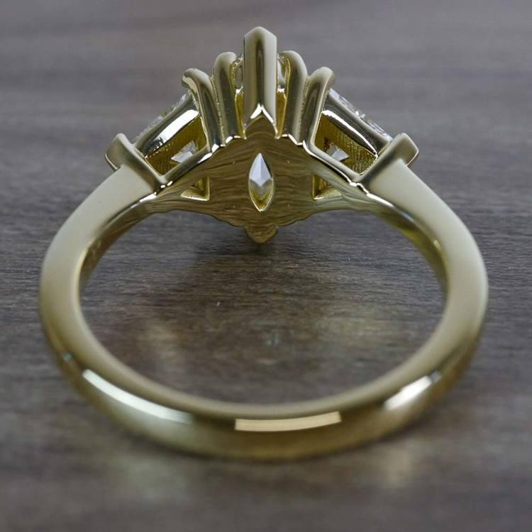 1 Carat Triple Engagement Marquise Diamond Ring angle 4