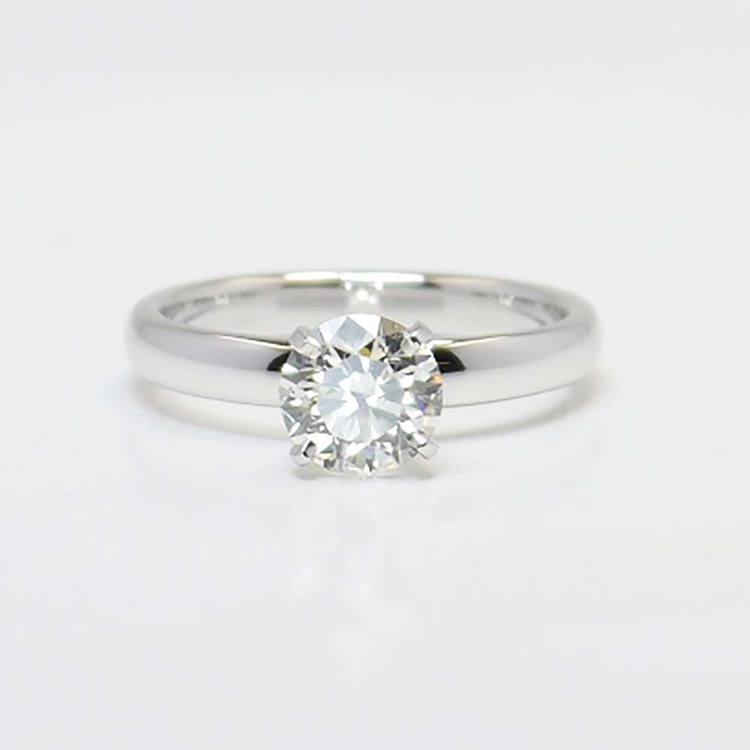 1 Carat Round Solitaire Diamond Engagement Ring