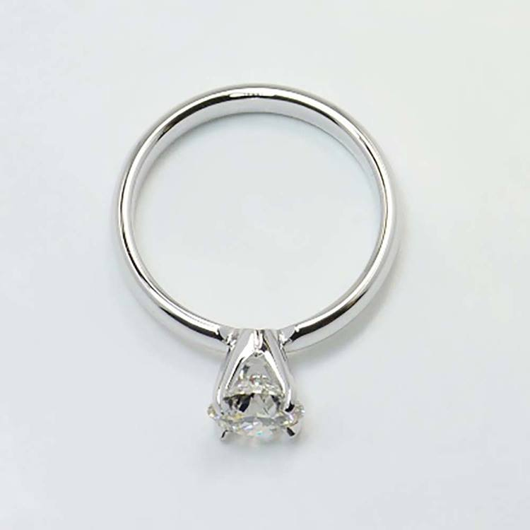 1 Carat Round Solitaire Diamond Engagement Ring angle 4