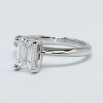 1.23 Carat Knife Edge Solitaire Emerald Diamond Engagement Ring - small angle 3