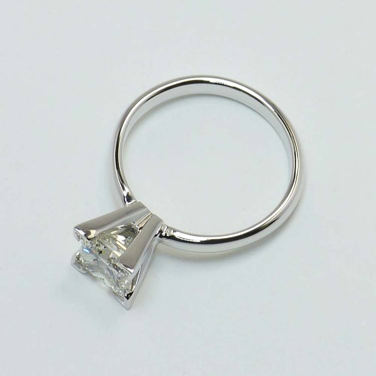 Comfort Fit 1.5 Carat Princess Solitaire Diamond Engagement Ring angle 4