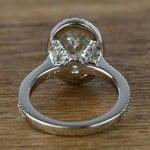 Oval Petite Halo Diamond Engagement Ring (2 Carat) - small angle 4