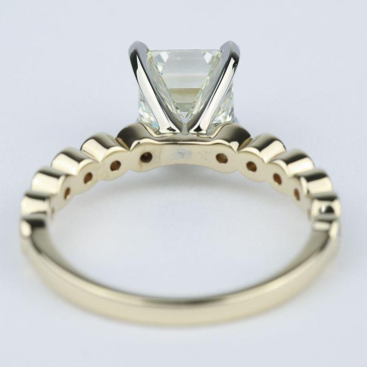 Bezel Engagement Ring with Asscher Diamond (2 Carat) angle 4