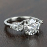 2.32 Carat Round & Pear Diamond Engagement Ring - small angle 3
