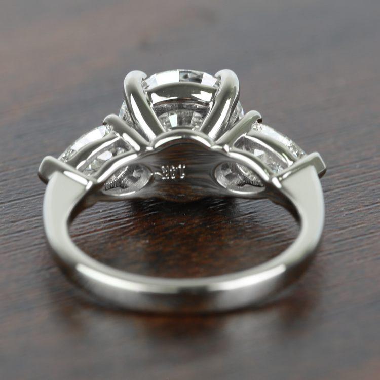 2.32 Carat Round & Pear Diamond Engagement Ring angle 4