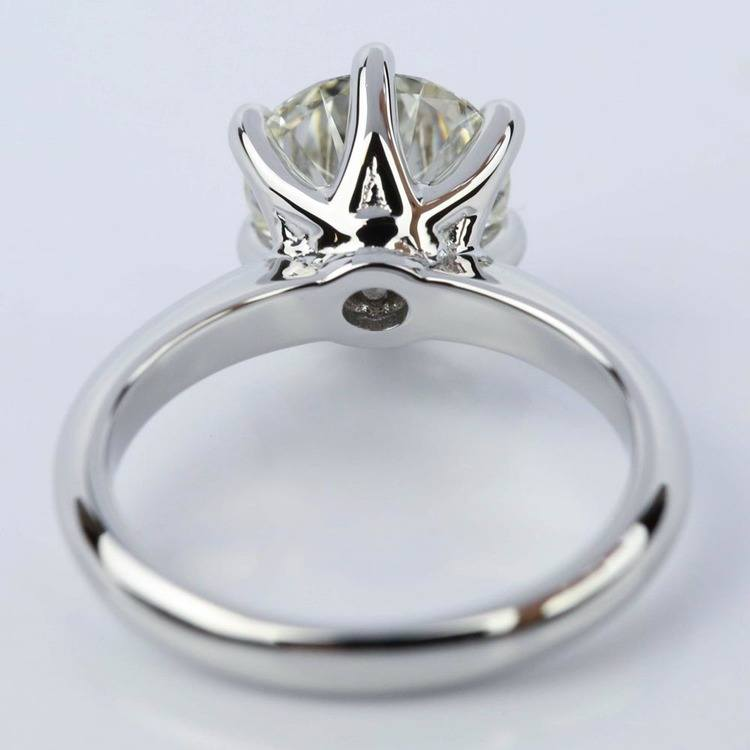 2.38 Carat Classic Six Prong Round Solitaire Engagement Ring angle 4