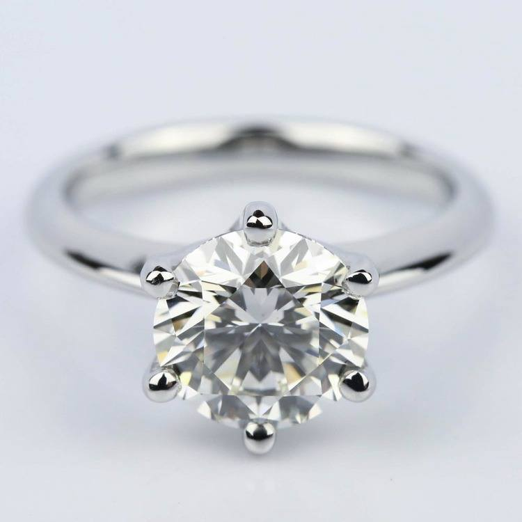 2.38 Carat Classic Six Prong Round Solitaire Engagement Ring