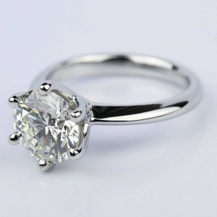 2.38 Carat Classic Six Prong Round Solitaire Engagement Ring angle 2